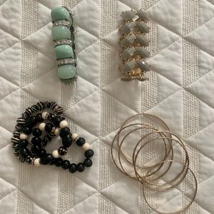 Lot of costume jewelry bracelets
